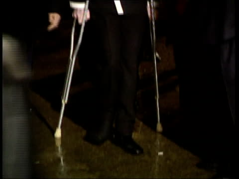Michael Jackson UK visit Lots of flash photography Oxford Pop star Michael Jackson along on crutches with psychic Uri Geller and Rabbi Shmuley...