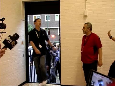 michael jordan visits lambeth college; england: london: lambeth: lillian baylis technology college: int michael jordan into sports hall as crowd of... - lambeth stock videos & royalty-free footage