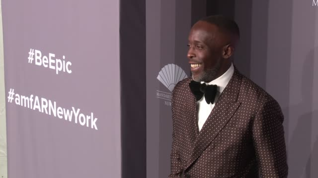 Michael K Williams at 20th Annual amfAR Gala New York at Cipriani Wall Street on February 07 2018 in New York City