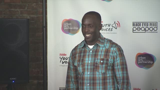 michael k williams at the black eyed peas at the peapod adobe youth voices academy launch at urban arts partnership in new york city april 19th at... - adobe material stock videos and b-roll footage