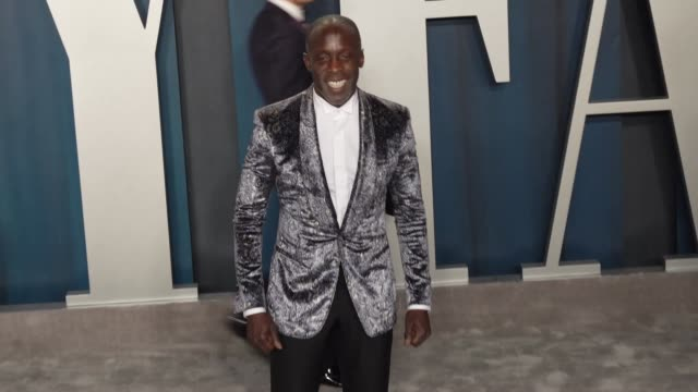 michael k. williams at vanity fair oscar party at wallis annenberg center for the performing arts on february 09, 2020 in beverly hills, california. - vanity fair stock videos & royalty-free footage