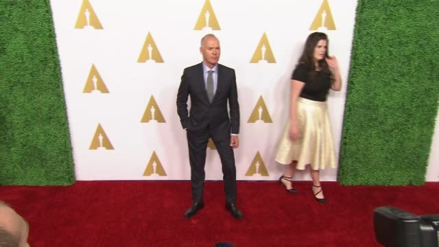 michael keaton at 87th annual academy awards nominee luncheon - reception at the beverly hilton hotel on february 02, 2015 in beverly hills,... - the beverly hilton hotel stock videos & royalty-free footage