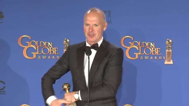 SPEECH Michael Keaton at the 72nd Annual Golden Globe Awards Press Room at The Beverly Hilton Hotel on January 11 2015 in Beverly Hills California