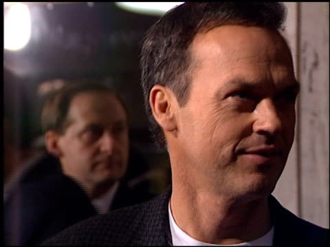 michael keaton at the premiere of 'the crossing guard' on november 9, 1995. - 1995 stock videos & royalty-free footage