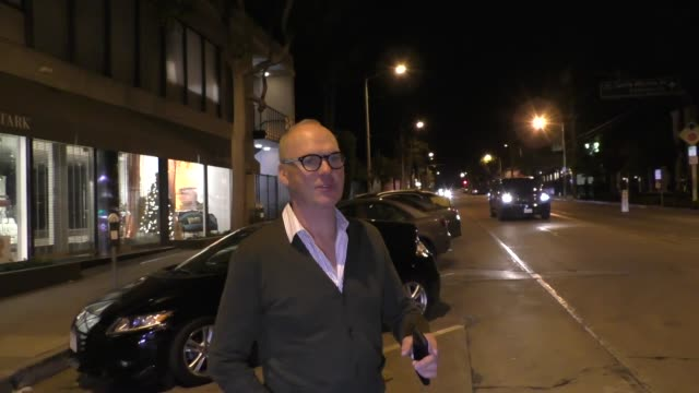 INTERVIEW Michael Keaton talks Bitcoin after dinner at Craig's in West Hollywood at Celebrity Sightings in Los Angeles on December 08 2017 in Los...