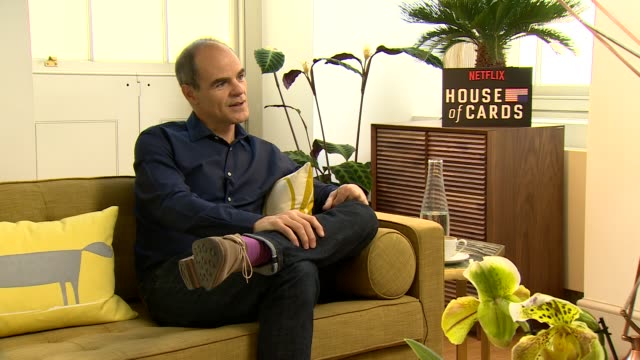 iinterview michael kelly on rumors on not telling friends and family his wife getting more out of him on the storyline at 'house of cards' season 4... - season 4 stock videos and b-roll footage