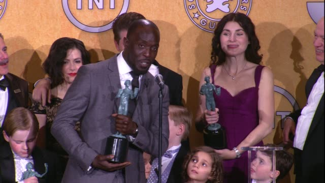 Michael Kenneth Williams on the event and on their SAG Award win for Ensemble in a Drama Series at 18th Annual Screen Actors Guild Awards Press Room...