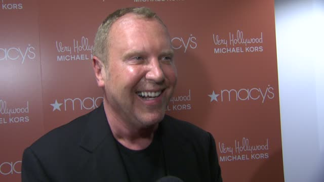 michael kors discusses what they are celebrating this evening the excitement of fashion's night out what still inspires him to this day about fashion... - debra messing stock videos and b-roll footage