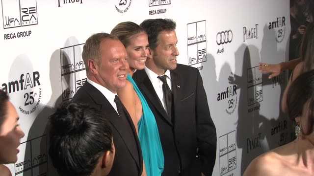 Michael Kors Heidi Klum and Kenneth Cole at the 2nd Annual amfAR Inspiration Gala New York Arrivals at New York NY