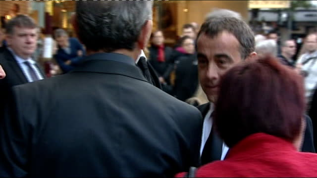 michael le vell charged with sex offences lib photography** michael le vell arriving at funeral of actress betty driver - マイケル レ ベル点の映像素材/bロール