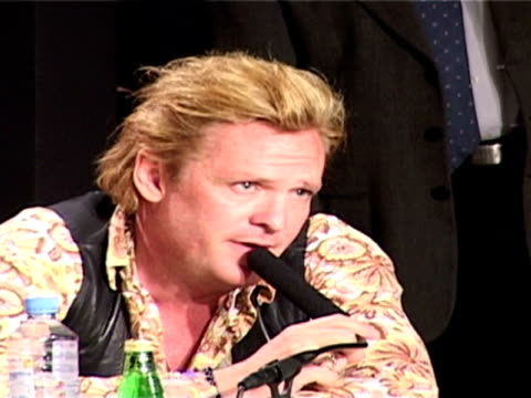 michael madsen comments on the originality of the film at the 2005 cannes film festival - 'sin city' press conference on may 18, 2005. - michael madsen stock videos & royalty-free footage