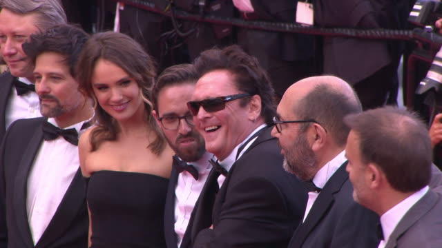 """michael madsen, deanna madsen at """"blackkklansmann"""" red carpet arrivals - the 71st cannes film festival at grand theatre lumiere on may 14, 2018 in... - michael madsen stock videos & royalty-free footage"""