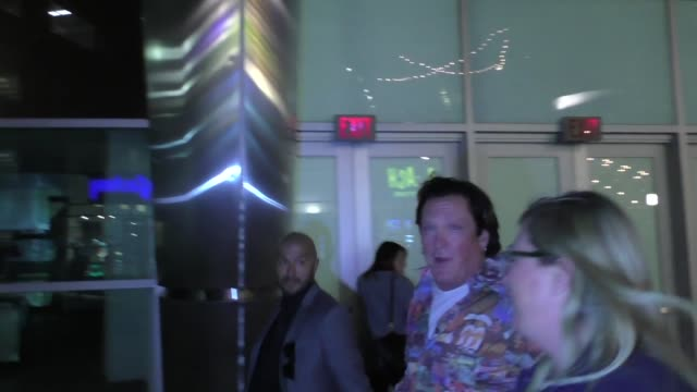 michael madsen leaves arclight theatre in hollywood in celebrity sightings in los angeles, - michael madsen stock videos & royalty-free footage