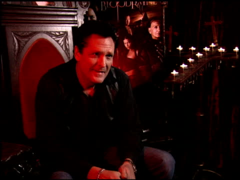 michael madsen on �bloodrayne�, the video game at the 'bloodrayne' junket at chateau marmont in west hollywood, california on december 13, 2005. - michael madsen stock videos & royalty-free footage