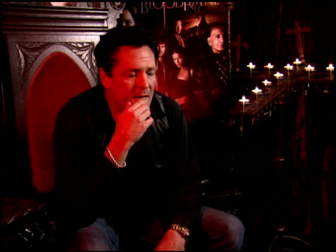 michael madsen on his character in the film and on other vampire films at the 'bloodrayne' junket at chateau marmont in west hollywood, california on... - michael madsen stock videos & royalty-free footage