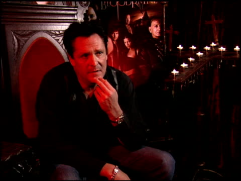 michael madsen on his preparation for the film and his stunts done during the film at the 'bloodrayne' junket at chateau marmont in west hollywood,... - michael madsen stock videos & royalty-free footage