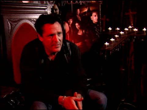 michael madsen on shooting in romania at the 'bloodrayne' junket at chateau marmont in west hollywood, california on december 13, 2005. - michael madsen stock videos & royalty-free footage
