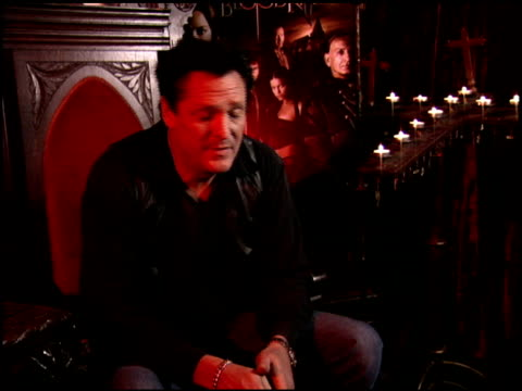 michael madsen on typically playing bad guys at the 'bloodrayne' junket at chateau marmont in west hollywood, california on december 13, 2005. - michael madsen stock videos & royalty-free footage