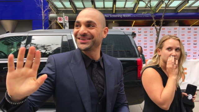 Michael Mando greets the fans before entering the red carpet Celebrities attending this year 2018 TIFF The Toronto International Film Festival is one...