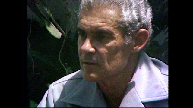 "michael manley, future sixth prime minister of jamaica, speaking as leader of the opposition in 1981 on bob marley as a political figure. ""political,... - grey hair stock videos & royalty-free footage"