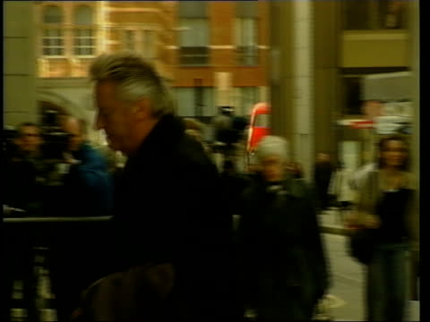michael mansfield qc talking with man and away pan - michael barry stock videos and b-roll footage