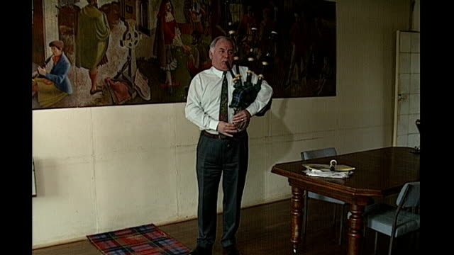 michael martin profile on his resignation as speaker of house of commons house of commons martin playing the bagpipes - house of commons stock videos and b-roll footage