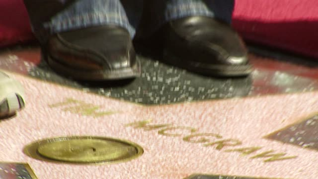 michael mayer, director, tim mcgraw and alison lohman at the dediction of tim mcgraw's star on the walk of fame at hollywood in hollywood, california... - tim mcgraw stock videos & royalty-free footage