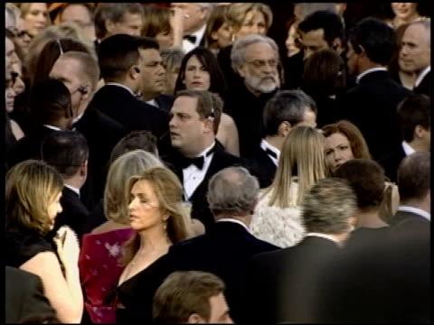 stockvideo's en b-roll-footage met michael mckean at the 2004 academy awards arrivals at the kodak theatre in hollywood, california on february 29, 2004. - 76e jaarlijkse academy awards