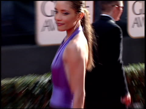 michael michele at the 2001 golden globe awards at the beverly hilton in beverly hills california on january 21 2001 - golden globe awards stock videos & royalty-free footage