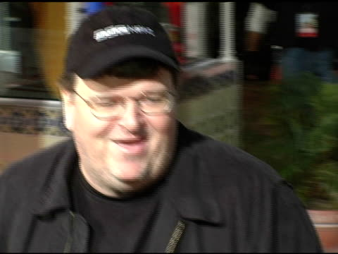 michael moore at the 'spanglish' premiere at the mann village theatre in westwood california on december 9 2004 - spanglish stock videos & royalty-free footage