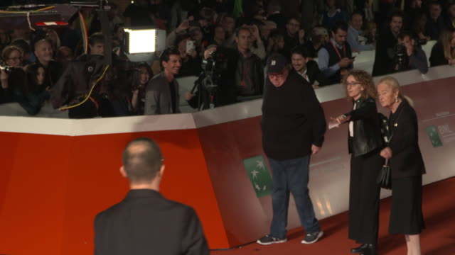 michael moore walks the red carpet ahead of the fahreneit 11/9 screening during the 13th rome film fest at auditorium parco della musica on october... - rome film fest stock videos and b-roll footage