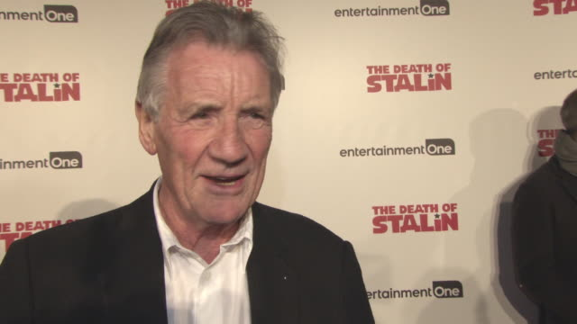 michael palin on how he got involved with the project, working with a star studded cast, being relieved at not having to play a russian accent, the... - マイケル パリン点の映像素材/bロール