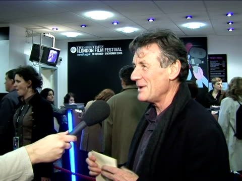 michael palin on working with terry gilliam at the the times bfi london film festival 2005 - the brothers grimm on october 31, 2005. - terry gilliam stock-videos und b-roll-filmmaterial