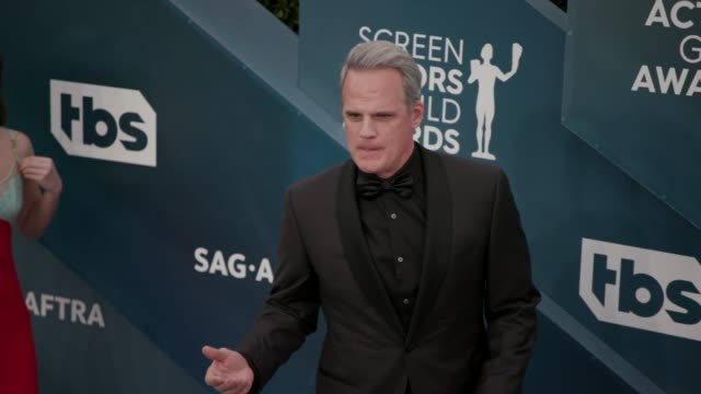 michael park at the 26th annual screen actors guild awards arrivals at the shrine auditorium on january 19 2020 in los angeles california - shrine auditorium stock videos & royalty-free footage