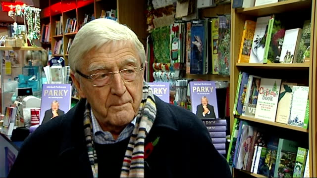 stockvideo's en b-roll-footage met london int michael parkinson interview sot his views on the russell brand and jonathan ross phone message scandal has no sympathy for brand thinks... - michael parkinson