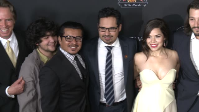 Michael Peña America Ferrera Rosario Dawson Diego Luna Cesar Chavez Los Angeles Premiere at TCL Chinese Theatre on March 20 2014 in Hollywood...