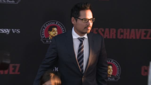 """michael peña - """"cesar chavez"""" los angeles premiere at tcl chinese theatre on march 20, 2014 in hollywood, california. - tcl chinese theatre stock videos & royalty-free footage"""