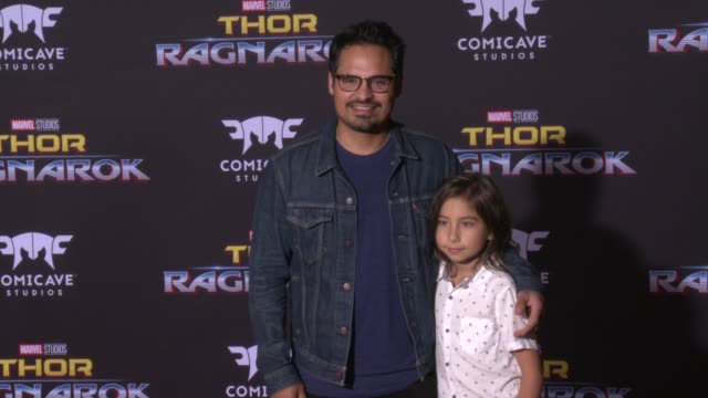 michael pena and roman pena at the thor ragnarok premiere at the el capitan theatre on october 10 2017 in hollywood california - thor: ragnarok stock videos & royalty-free footage