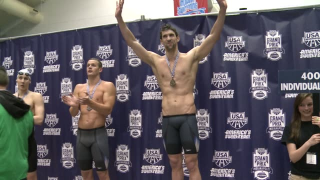 michael phelps notched the fastest 200m medley time of the year at the indianapolis grand prix on saturday a good sign ahead of american olympic... - ridge stock videos & royalty-free footage