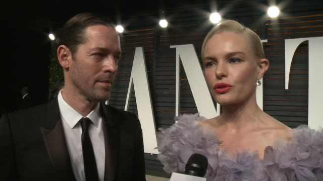 INTERVIEW Michael Polish and Kate Bosworth at the 2016 Vanity Fair Oscar Party Hosted By Graydon Carter at Wallis Annenberg Center for the Performing...