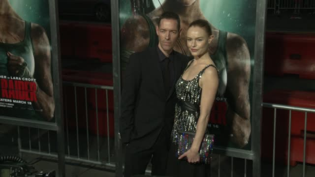 Michael Polish and Kate Bosworth at the 'Tomb Raider' Premiere at TCL Chinese Theatre on March 12 2018 in Hollywood California