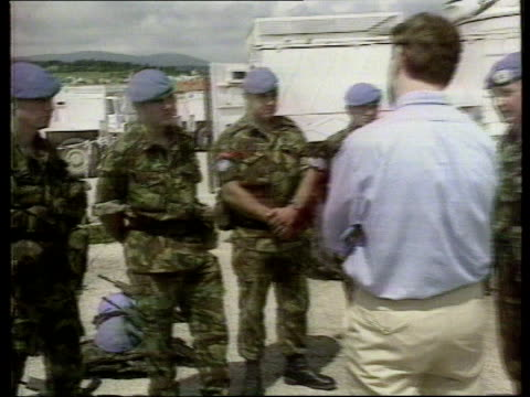 homosexual revelations/political career lib herzegovina portillo along visiting british troops serving in un force soldiers pull out listening to... - michael portillo stock videos & royalty-free footage