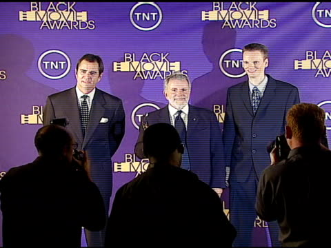 michael romersa sid ganis and danny llewelyn winners outstanding motion picture for at the 2006 tnt black movie awards press room at wiltern theater... - wiltern theater stock videos and b-roll footage