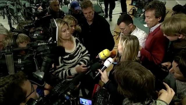 michael schumacher still being treated in hospital following skiing accident france grenoble int sabine kehm speaking to press sot he was not even at... - grenoble stock-videos und b-roll-filmmaterial
