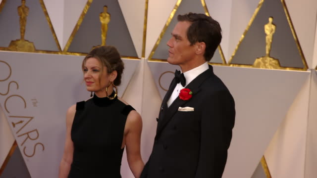 michael shannon and kate arrington at 89th annual academy awards - arrivals at hollywood & highland center on february 26, 2017 in hollywood,... - hollywood and highland center stock videos & royalty-free footage