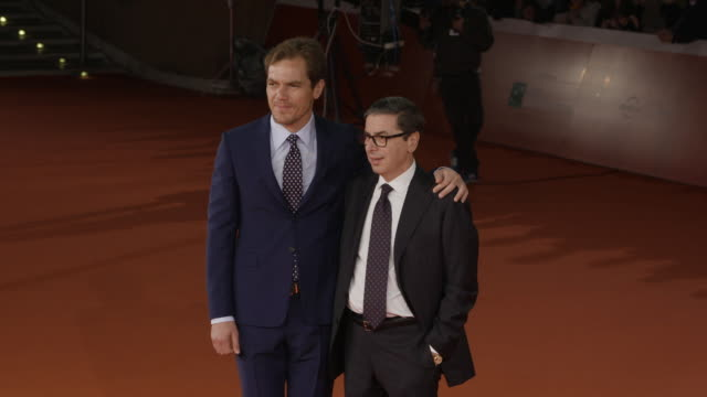michael shannon antonio monda at trouble no more red carpet 12th rome film fest on november 02 2017 in rome italy - rome film fest stock videos and b-roll footage