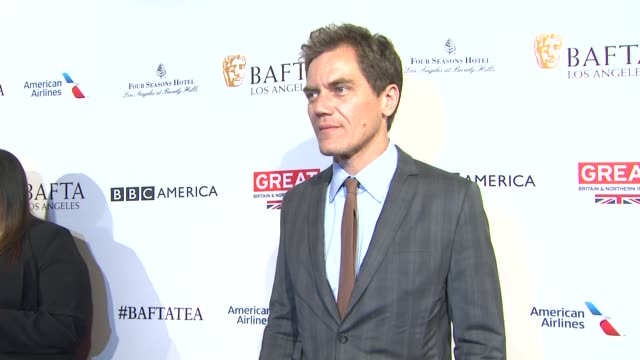 michael shannon at the bafta los angeles awards season tea party at four seasons hotel los angeles at beverly hills on january 09 2016 in los angeles... - tea party stock videos and b-roll footage