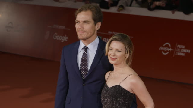 michael shannon kate arrington at trouble no more red carpet 12th rome film fest on november 02 2017 in rome italy - rome film fest stock videos and b-roll footage