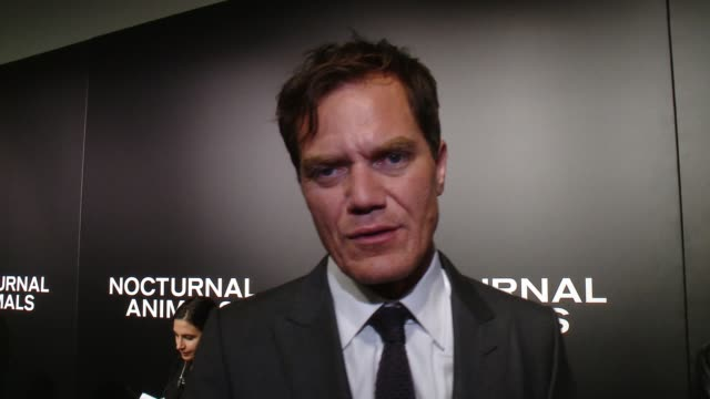 "interview michael shannon on his initial reaction to the script his favorite part of working with tom ford at ""nocturnal animals"" los angeles special... - working animals stock videos & royalty-free footage"