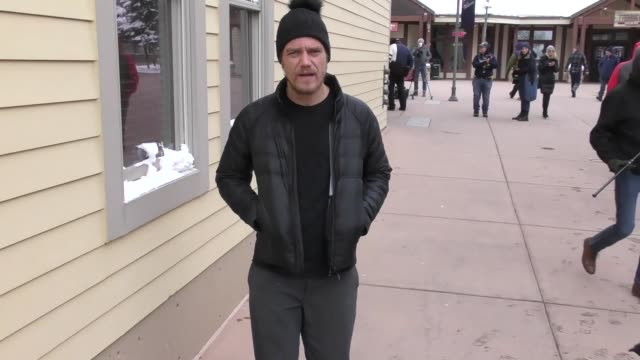 Michael Shannon on Main Street at the Sundance Film Festival in Celebrity Sightings in Park City UT